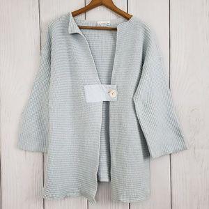 HABITAT Med/Lg Light Blue Cotton Cardigan Sweater
